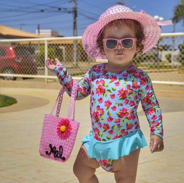 Chapéu De Praia Personalizado Infantil + Bolsa Grátis Promo - R  50 ... 16c6494b335