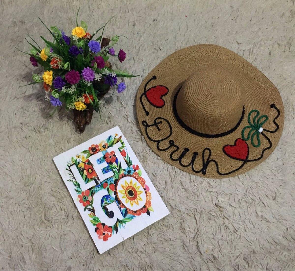 chapéu de praia personalizado temos mãe e filha postado 24hr. Carregando  zoom. 5f2f22d07bc