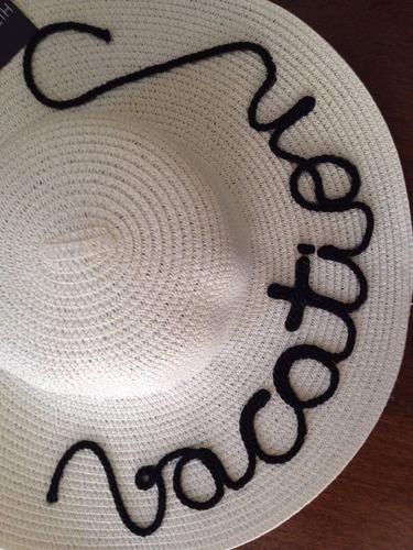 chapéu de praia personalizado vacation blessed sereia bride