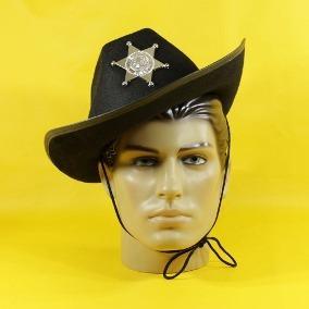 Chapéu De Xerife Cowboy - R  39 676eba6bfa6