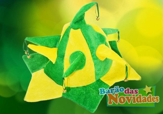 Chapéu Do Brasil Copa Do Mundo De Pelúcia Bobo Da Corte - R  18 d548417acae