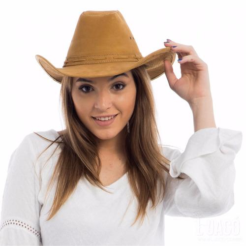 chapeu em couro legitimo boiadeiro country cowboy americano