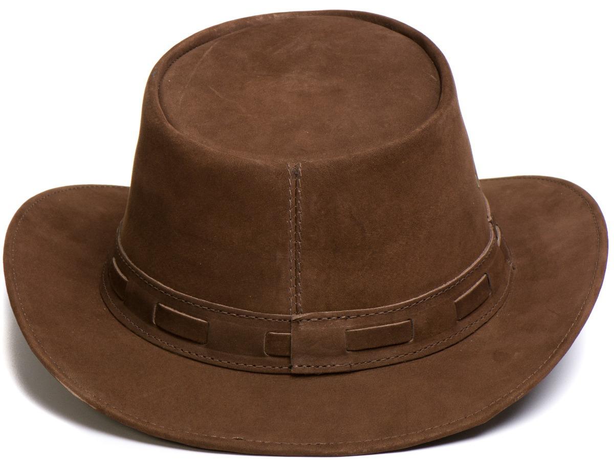 chapeu em couro modelo aba curta chocolate l jaco so-352. Carregando zoom. 9fec7d792ac