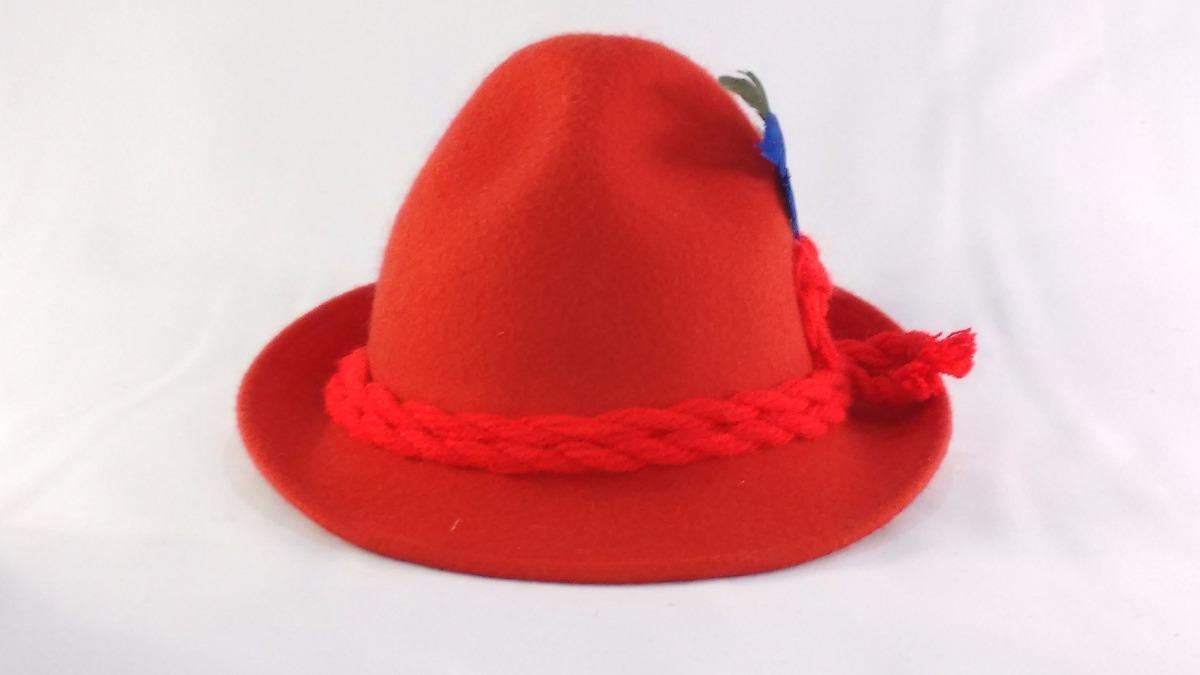 chapéu em feltro modelo tirolês oktoberfest traje tipico. Carregando zoom. 3c896bbfddc