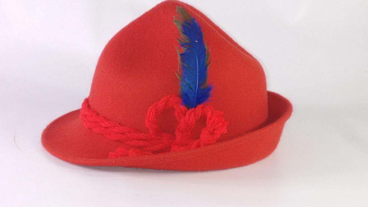 ef8c5f5bc7f53 chapéu em feltro modelo tirolês oktoberfest traje tipico. Carregando zoom.