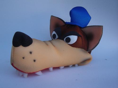 chapéu espuma lobo mau e os três porquinhos