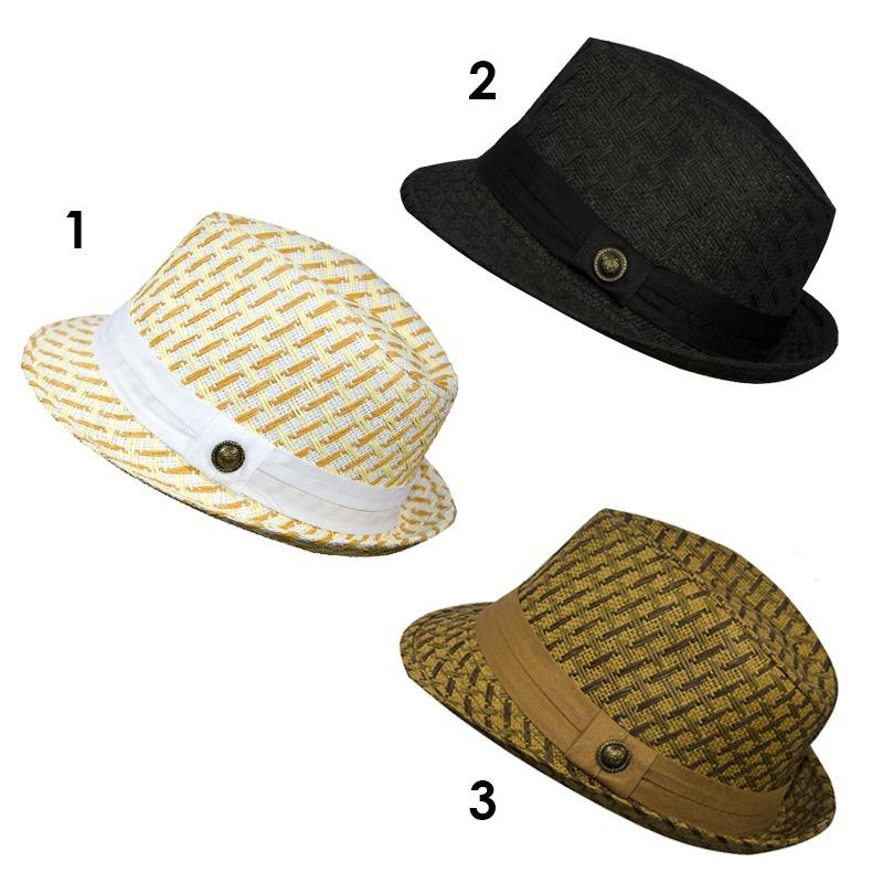 chapéu estilo panamá malandrinho clássico detalhes riscado. Carregando zoom. 6b10c513450