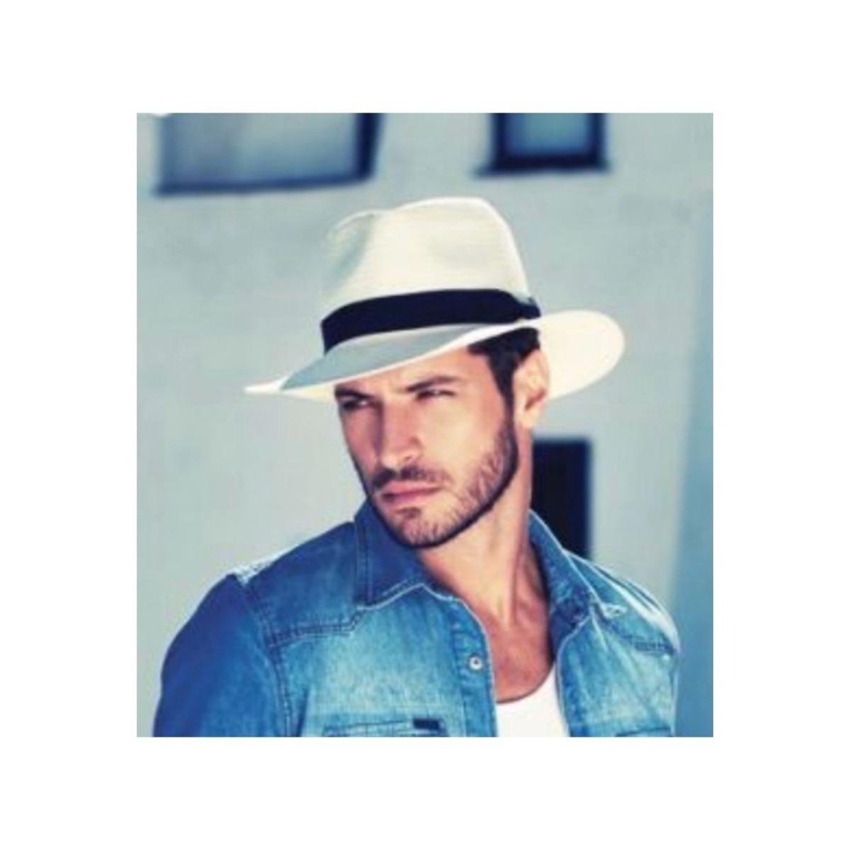 Chapéu Estilo Panamá Masculino Feminino Modelo Clássico Moda - R  59 ... 73211535f45