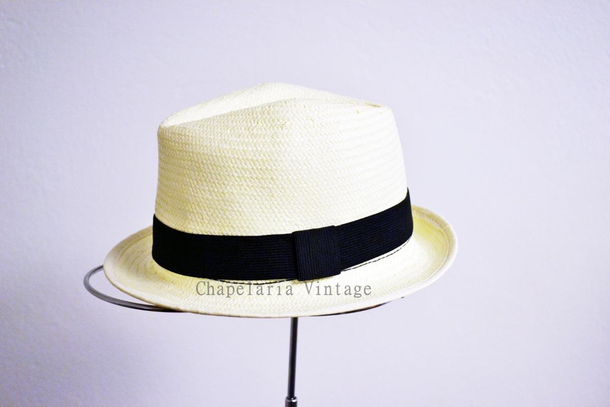 chapéu estilo panamá - modelo social clássico - unissex. Carregando zoom. 7dd7a70b3f7