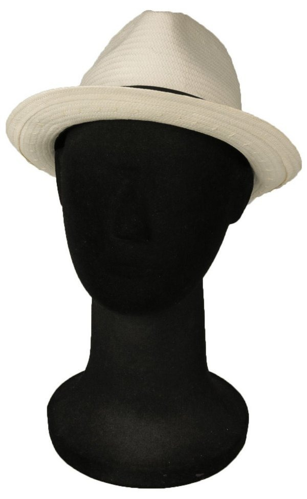 chapéu estilo panamá palha natural aba media casamento. Carregando zoom. 7b99e8f6569