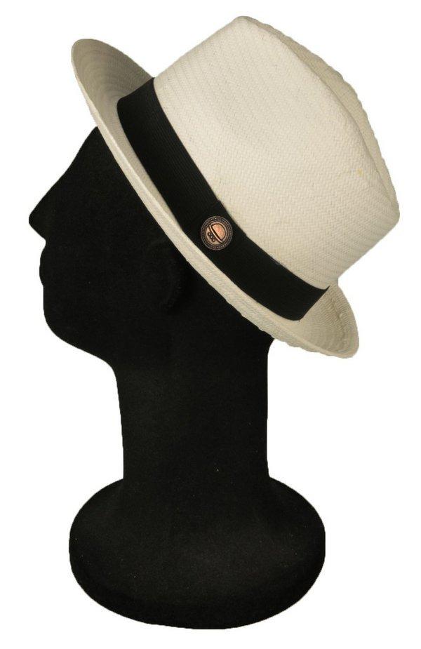 chapéu estilo panamá shantung palha aba media classico. Carregando zoom. 352b9bb6d82