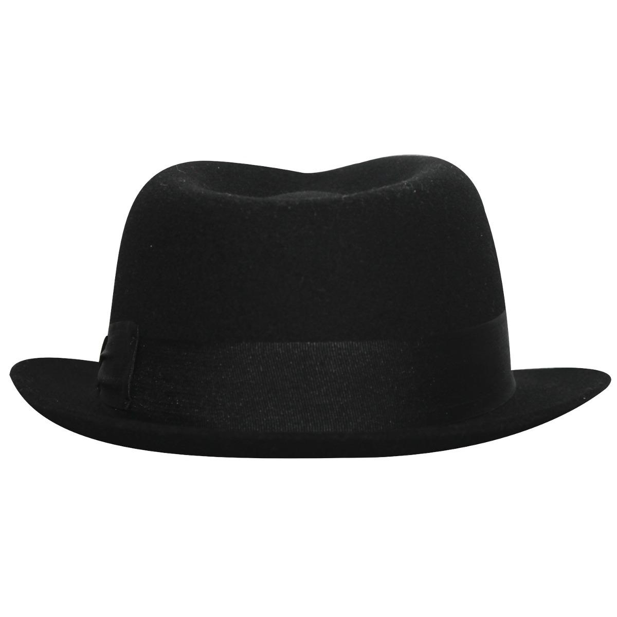 chapéu fedora aba curta preto masculino. Carregando zoom. 2fb5986ec9c