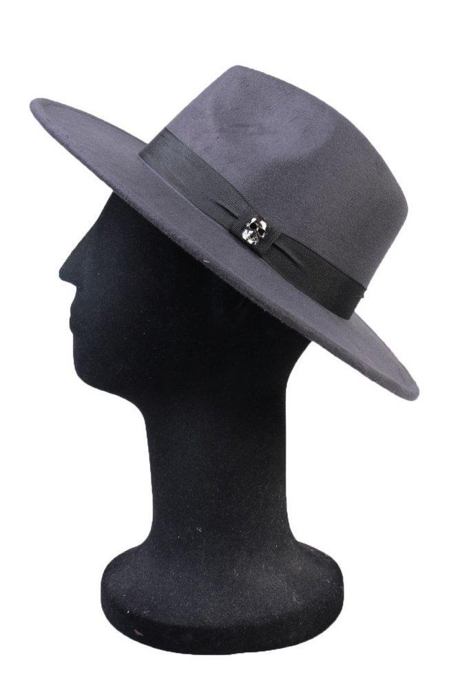 e2de204127dc1 chapéu fedora cinza grafite aba média caveira grafite. Carregando zoom.