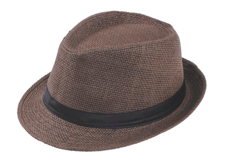 chapéu fedora de palha marrom aba curta. Carregando zoom. ef00fa3f3f0