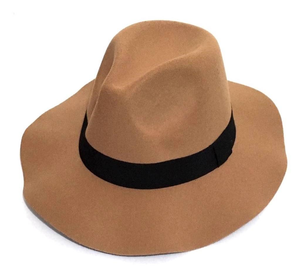 Chapéu Fedora Masculino Feltro de Lã Cinza Aba Curta