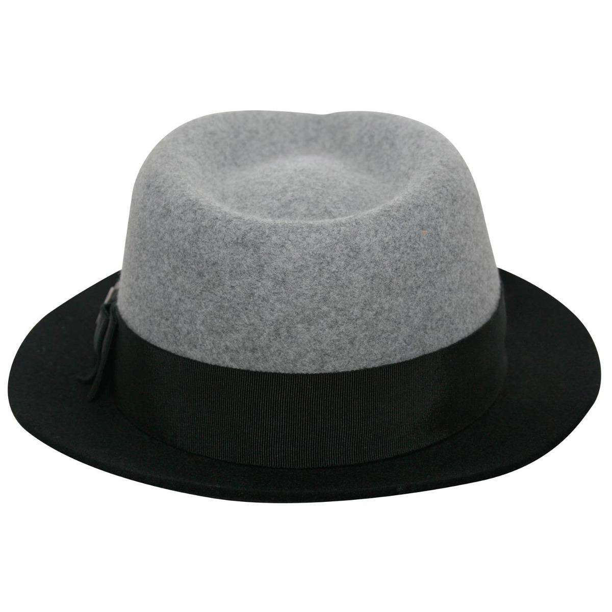 71ae0b198093a chapéu fedora feminino de feltro - cinza-tamanho 54. Carregando zoom.