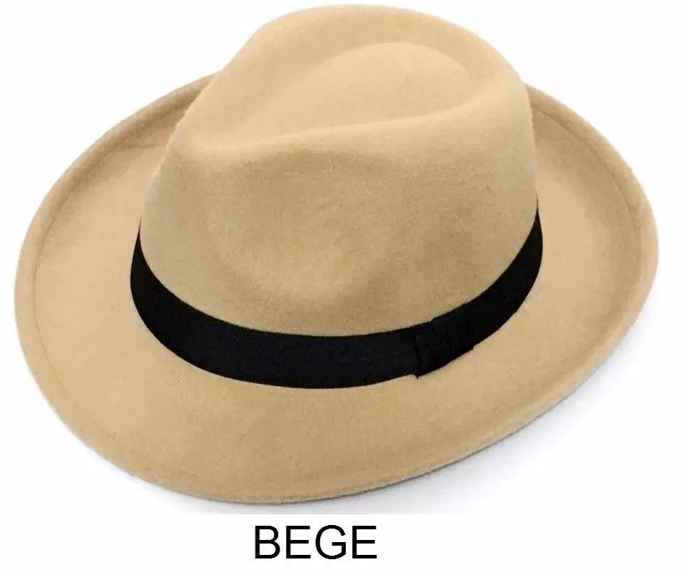 Chapéu Fedora Gangster Feltro Aba Media 5 1a85c20151c