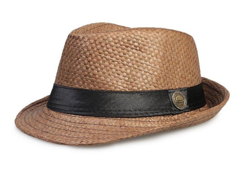 chapéu fedora infantil aba curta marrom criança. Carregando zoom. 38cc7a91b6e