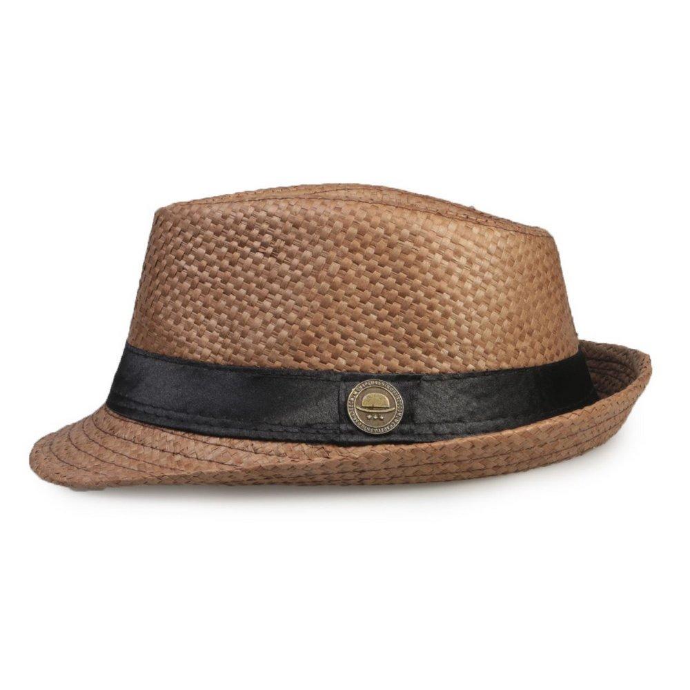 chapéu fedora infantil aba curta marrom menino menina lindo. Carregando  zoom. f31de77b13e