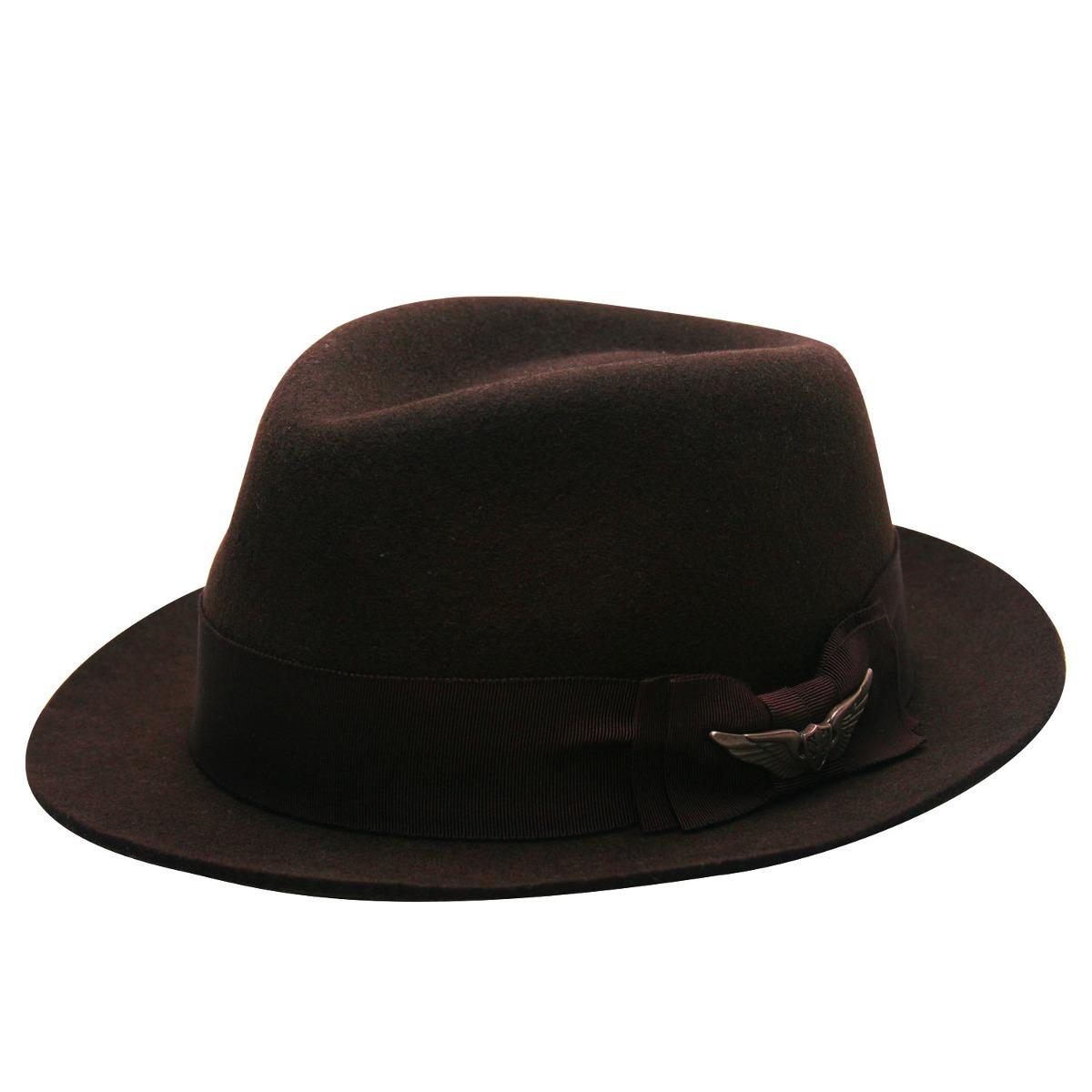 Chapéu Fedora Johnny-marrom-tamanho 59 - R  199 1aacb8341b1