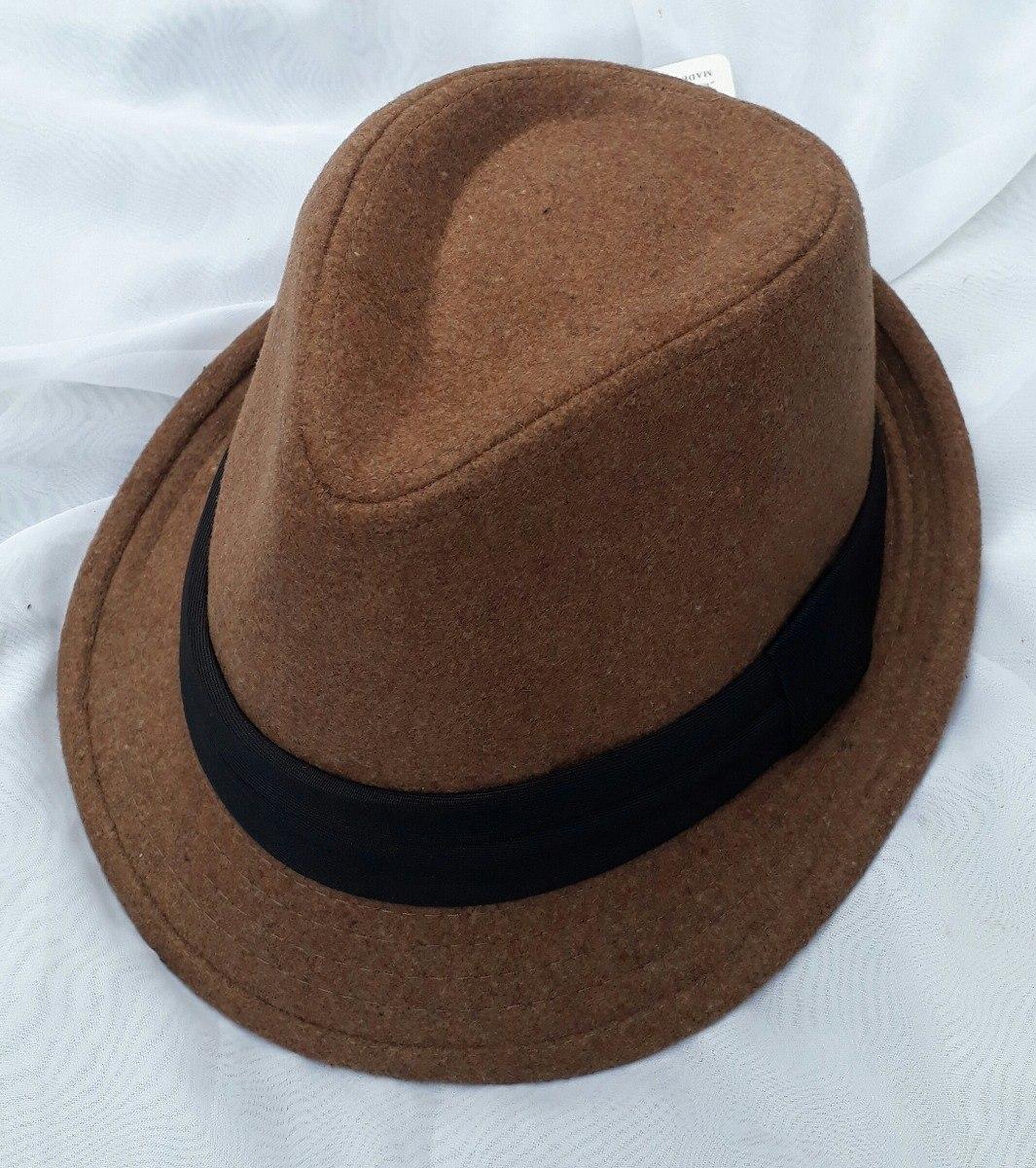 chapéu fedora marrom aba curta festa casamento evento. Carregando zoom. d0c4bf353fb