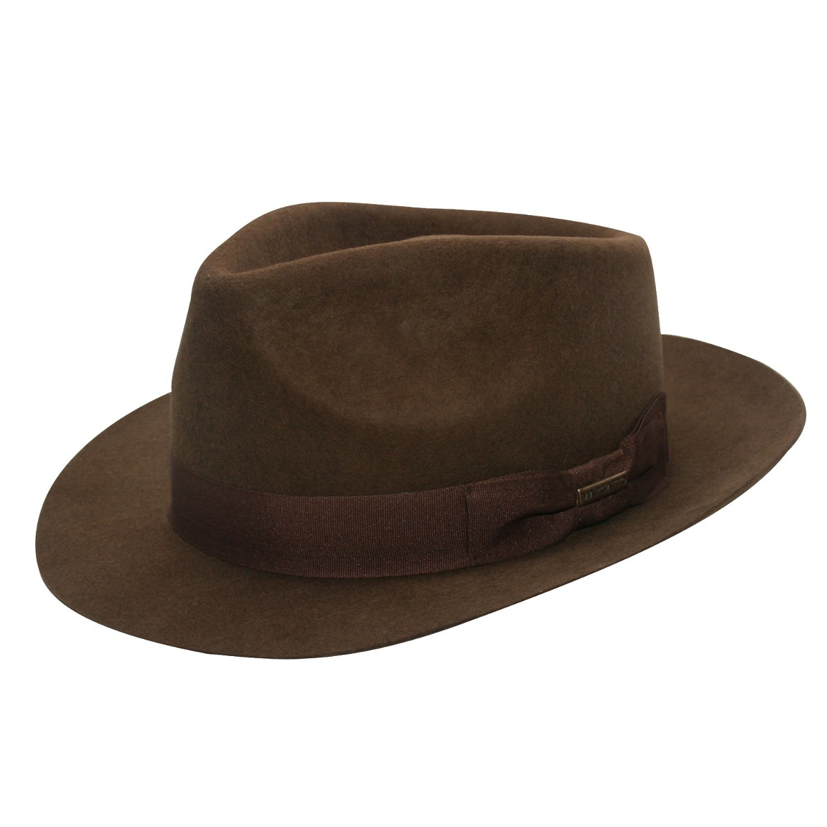 chapéu fedora masculino estilo gangster marrom feltro. Carregando zoom. 56e13588066