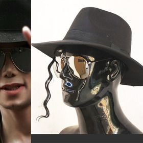 Chapéu Fedora Modelo Michael Jackson Clássico Feltro Preto