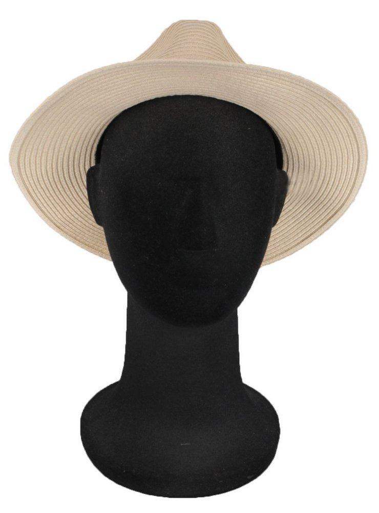 chapéu fedora palha bege aba 7 cm masculino feminino. Carregando zoom. c5a867dbf4b