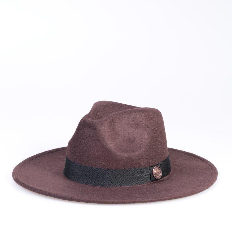 Chapéu Fedora Panamá Preto Aba Médio 8cm Reto - R  39 d1d53558e26