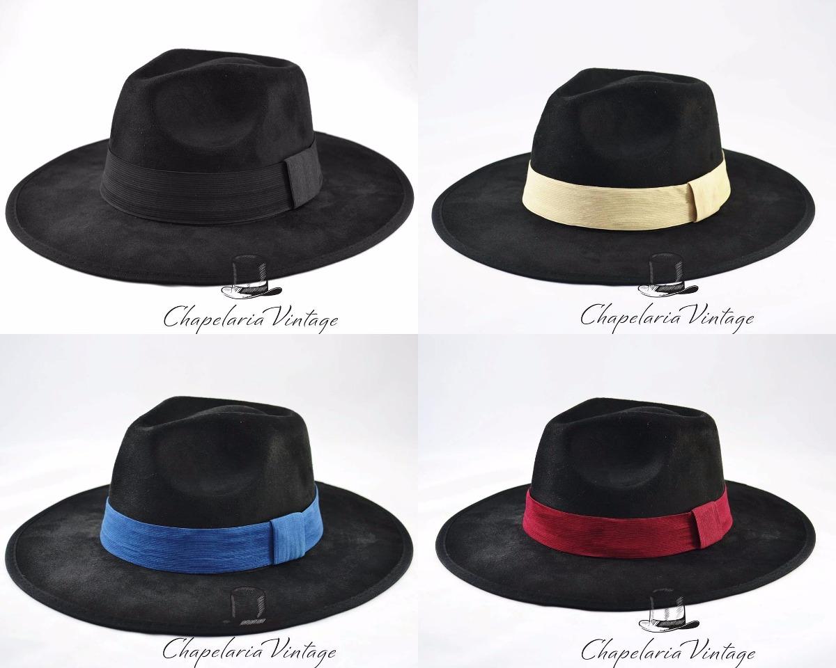 e9bb9cab1e chapéu fedora personalizado preto masculino feminino. Carregando zoom.