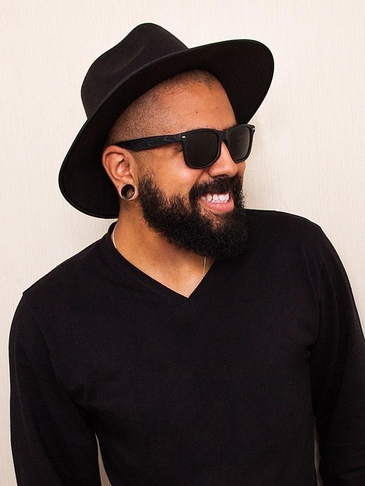 4b2066cf1a chapéu fedora preto masculino aba média excelente qualidade. Carregando  zoom.