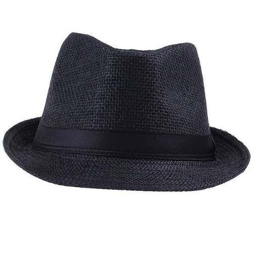 chapéu fedora preto masculino feminino social oferta
