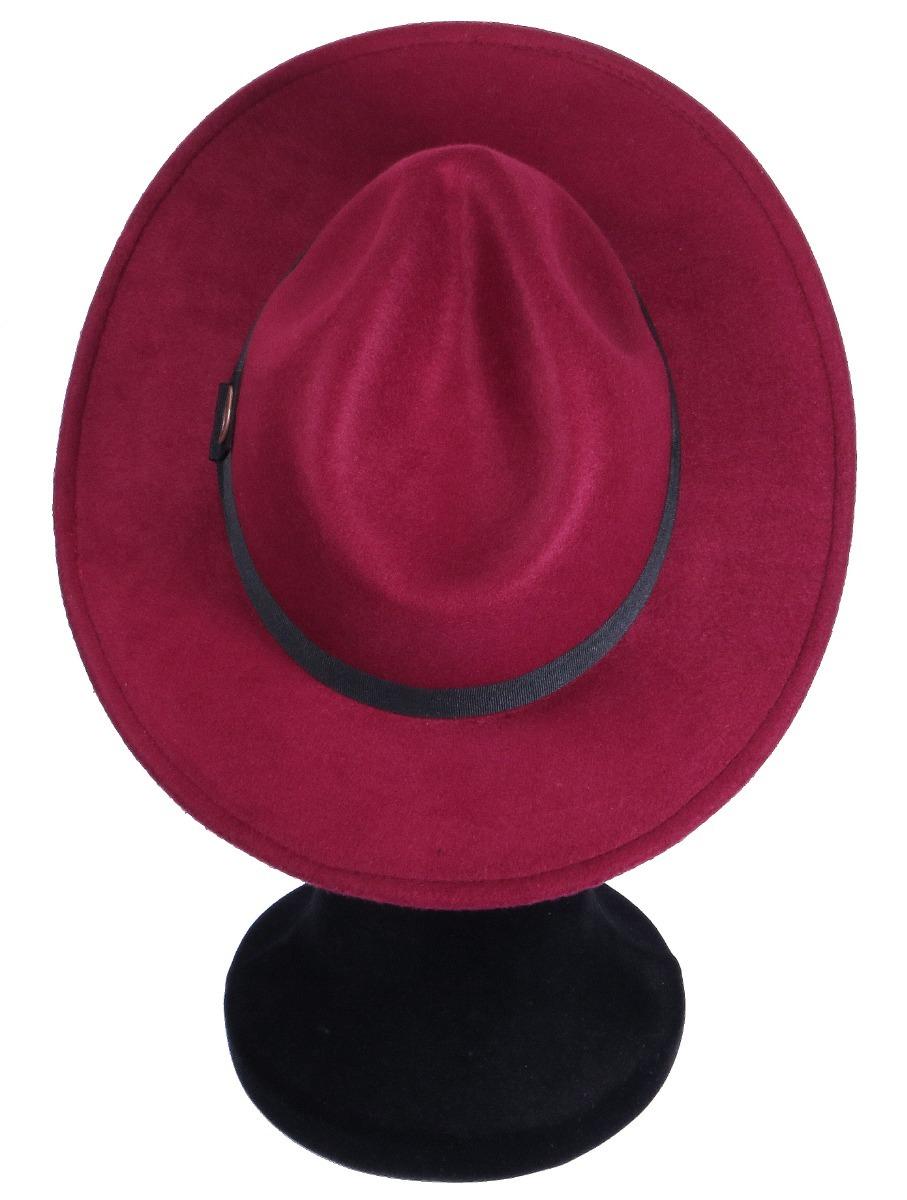 chapéu fedora unissex aba reta 7 cm bordo com faixa preta. Carregando zoom. cb8640d2e5c