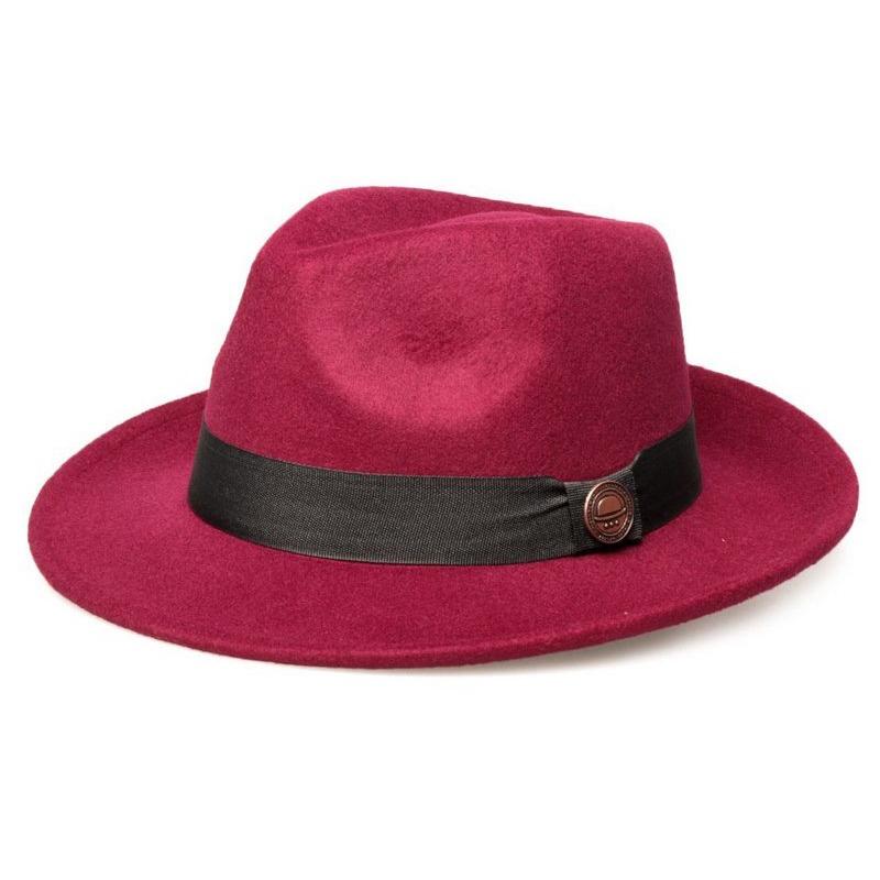 chapéu fedora vinho aba média 6 cm. Carregando zoom. 636e2861fb3