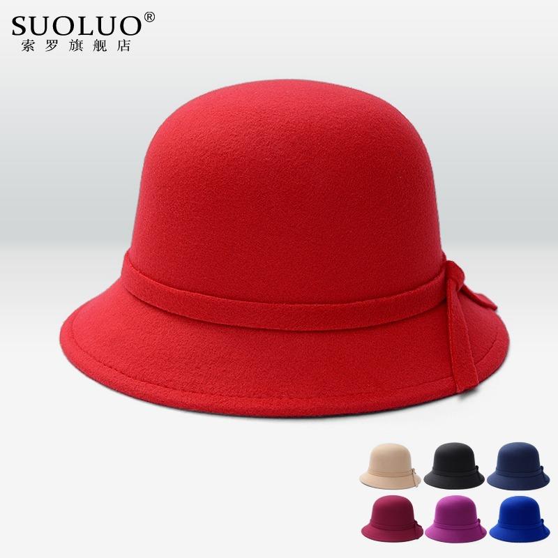 c28b47269a2c6 chapéu feminina cloche retro inglesa feltro la inverno preto. Carregando  zoom.