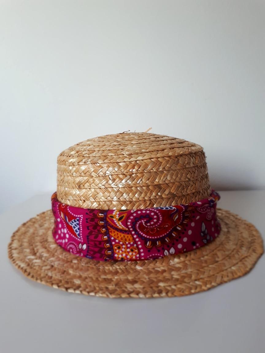 chapéu feminino boater velejador palheta palha. Carregando zoom. 83d856fc1ff
