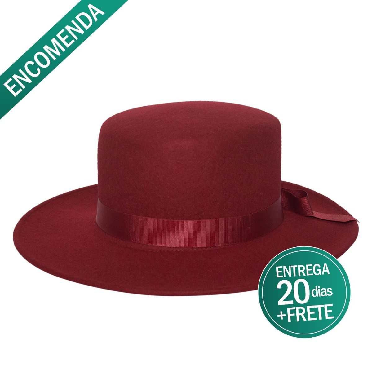 chapéu feminino casamento madrinha de feltro vermelho elegan. Carregando  zoom. 5c64c86c196