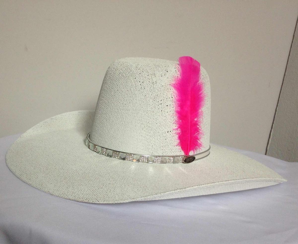 cc737dc827 Chapéu Feminino Com Strass Branco Dallas Aba 12cm - R$ 119,90 em ...