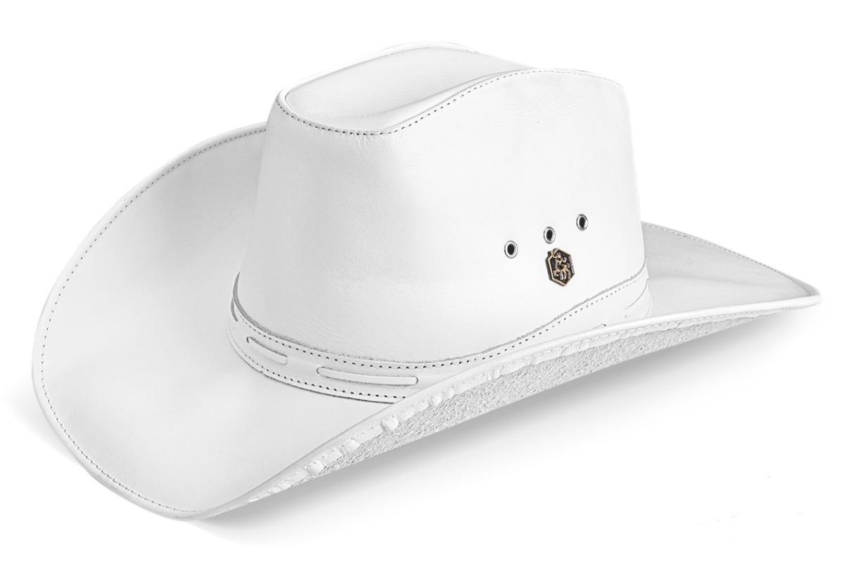 chapeu feminino couro legitimo rodeio americano branco. Carregando zoom. 25192847e7d
