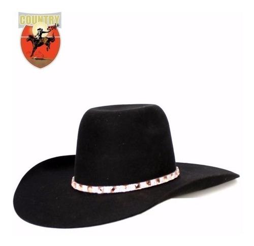 chapeu feminino eldorado feltro com strass preto