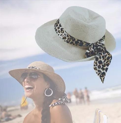 fffa08cd2ae9a Chapéu Feminino Floppy Praia Moda Verão + Óculos Redondo - R  45