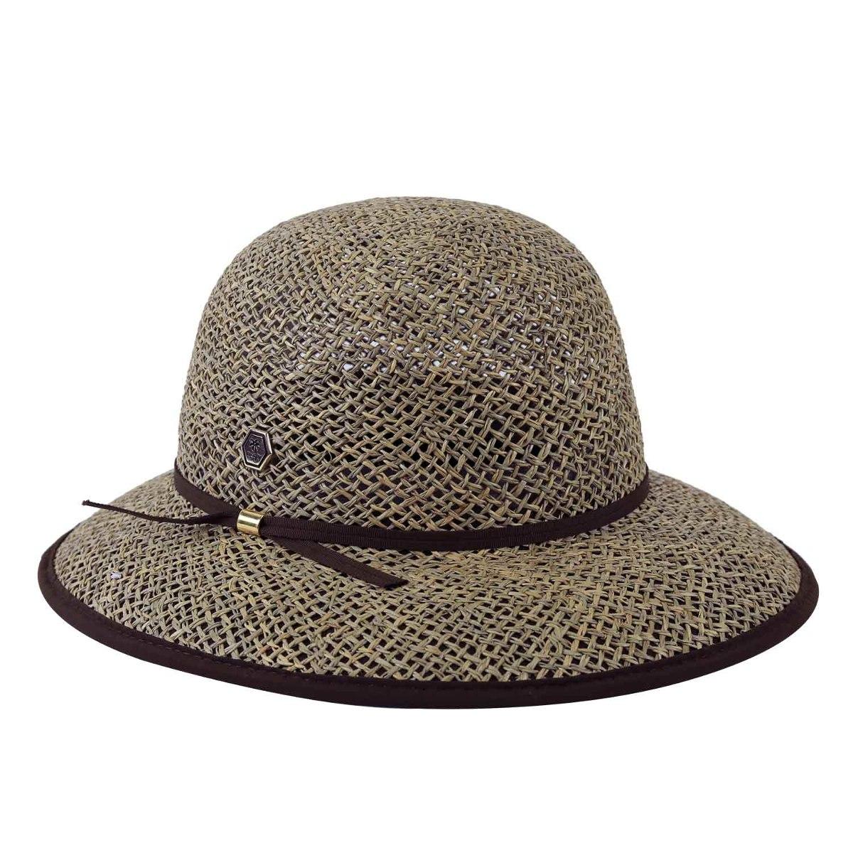 chapéu feminino palha praia proteção uv luxo. Carregando zoom. a3b82c93cbf