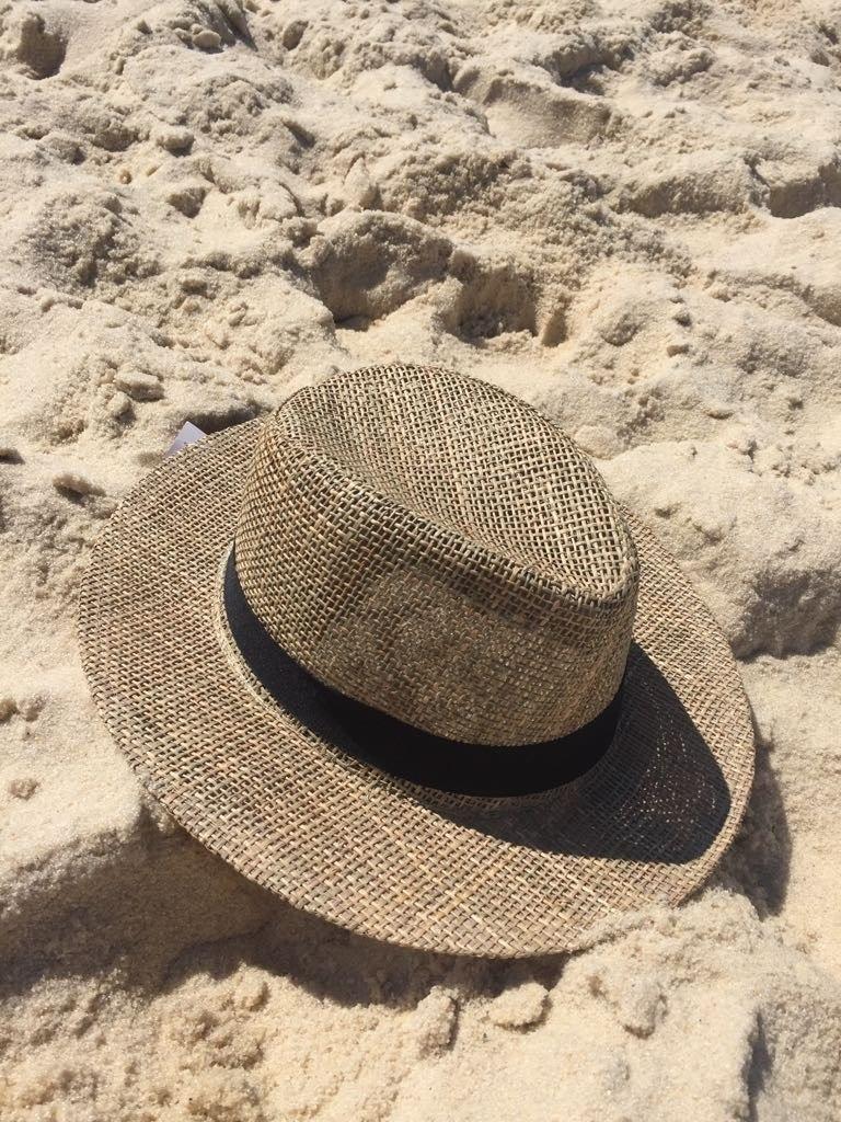chapéu feminino panamá moda praia palha natural 56 ao 60. Carregando zoom. e95980e5da5