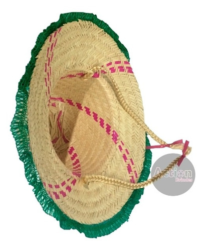 chapéu festa junina com trança