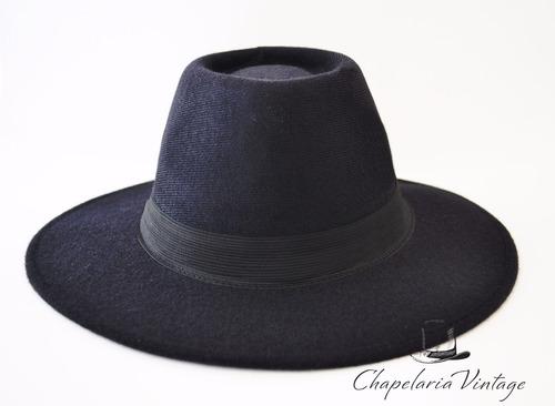 chapéu floppy fedora preto feminino masculino aba longa
