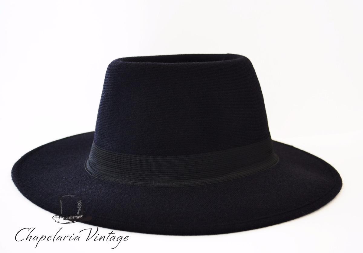 chapéu floppy fedora preto moda vintage aba longa. Carregando zoom. 2815065e9d0
