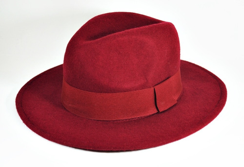 chapéu floppy fedora vinho - aba longa