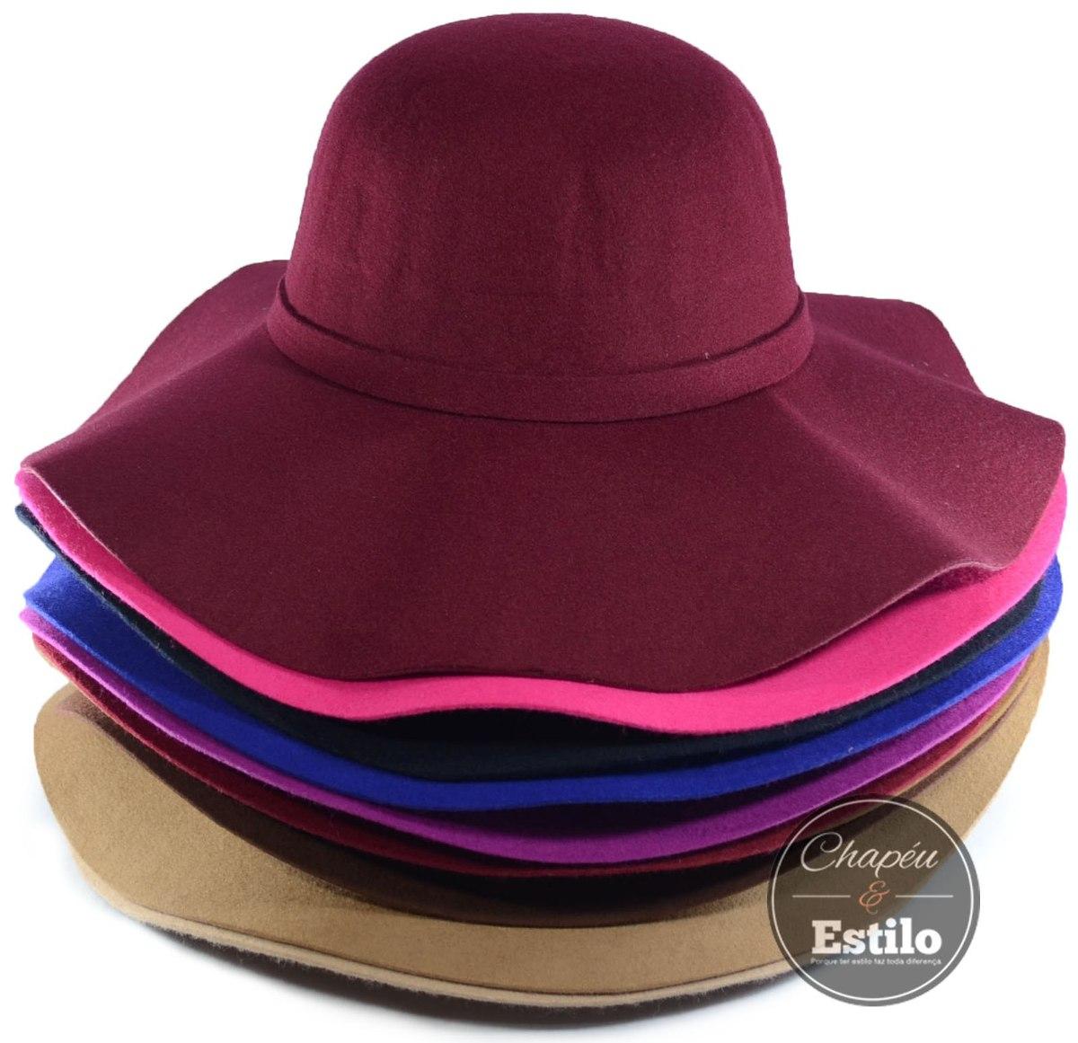 Chapéu Floppy Feminino Moda Tendência Retrô 100% Lã Pura - R  109 c514ecfcbf0