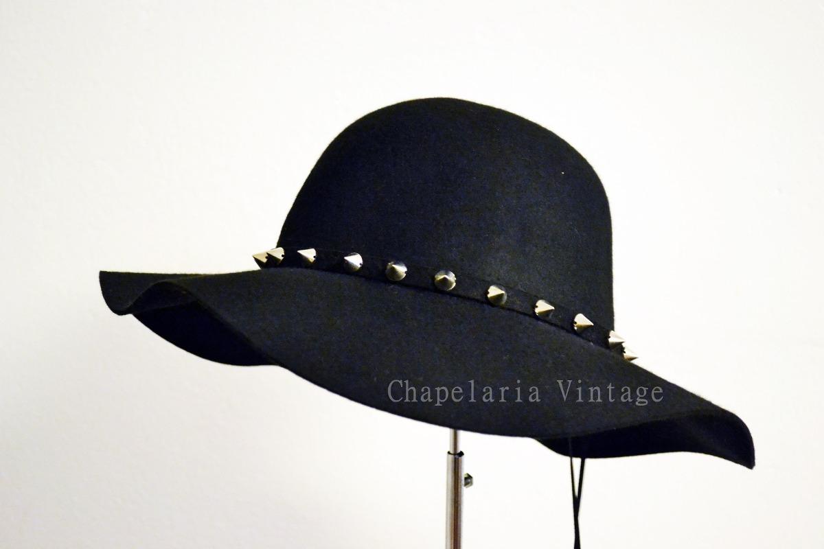 9dd72455381ab chapéu floppy preto - spikes - excelente qualidade! Carregando zoom.