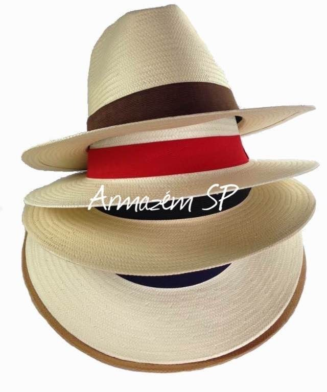Chapéu G Gg Aba Larga 60 61 Moda Panamá Masculino Feminino - R  59 ... 072db491b51
